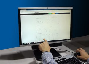 Our applications engineer demonstrates the iT300's built-in web configuration feature