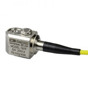 Side exit integral cable accelerometer, model 787F