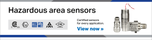 Hazardous location Wilcoxon sensors CSA, ATEX, IECEx certified for Class I, II, III, Zone 0, 1, 2, Divisions 1 and 2